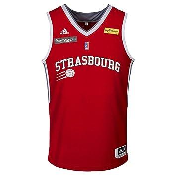 Sig estrasburgo réplica Exterior - Camiseta de Baloncesto para Hombre, Hombre, Color Rojo, tamaño Small: Amazon.es: Deportes y aire libre