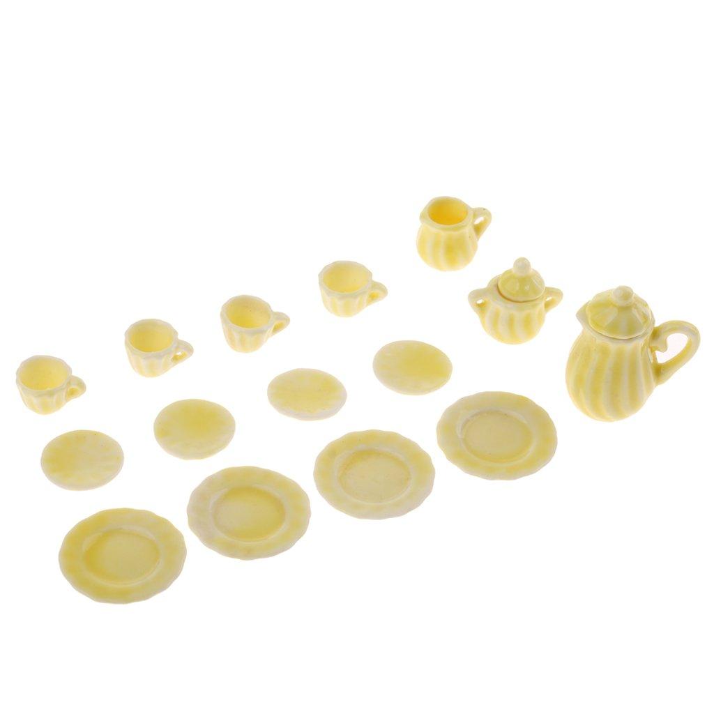 monkeyjack 15pcs monkeyjack Ginger Porcelain Teaセット1/ 12ドールハウスミニチュアアクセサリー B0791CLG3V Ginger B0791CLG3V, Cedar Field:d8921d69 --- alumnibooster.club