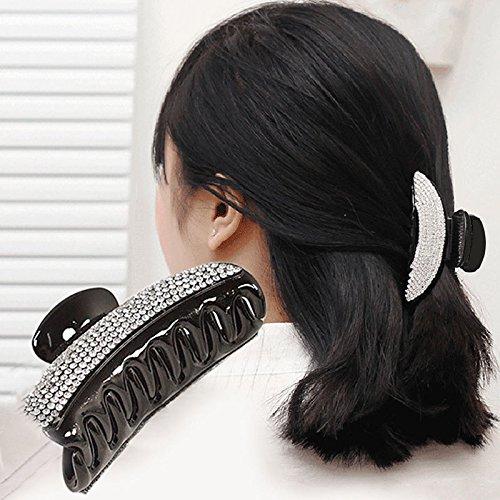 Full Crystal Women Chic Hair Clip Hairpin Rhinestone Claw Clamp Headwear Nice US