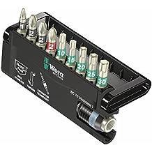 Wera BC 10/9 Stainless Rapidaptor Bit-Check Set (PH/PZ/TX), 10-Piece