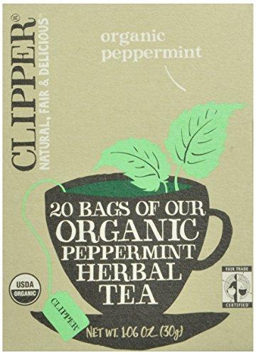 Clipper Fair Trade Organic Tea, Herbal Peppermint, 20 Count (Pack of 6)