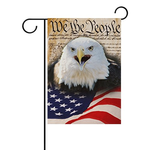 Naanle 4th of July Long Polyester Garden Flag 12 X 18 Inches