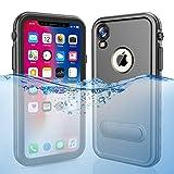 iPhone XR Waterproof Case, ZERMU Colorfue Kickstand Shockproof Snowproof Cover IP68 Underwater Full Body Protection Built-in Screen Protector Underwater Waterproof Case for iPhone XR 6.1 inch 2018