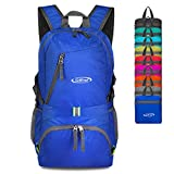 G4Free 40L Lightweight Packable Durable Travel Hiking Backpack Handy Foldable Camping Outdoor Backpack Daypack (Blue)