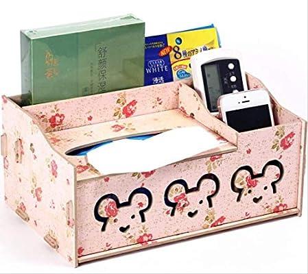 Doudou Caja De Pañuelos Funda De Servilleta Facial Multifuncional Pañuelo De Papel Estuche De Madera DIY Holle Kitty Style: Amazon.es: Hogar