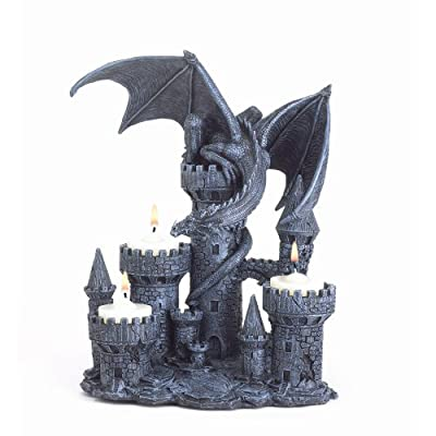 Gifts & Decor Dragon Candleholder Medieval Castle Magic Myth Fantasy