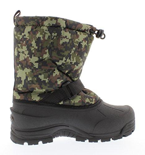 Northside Frosty Winter Boot (Toddler/Little Kid/Big Kid),Camo Green,4 M US Big Kid