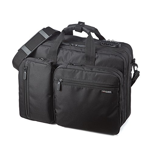 SANWA 3-in-1 Laptop Briefcase, 15.6 inch Expandable Business Bag, Hand/Shoulder / Backpack, for MacBook Dell Hp Sony Acer Asus Samsung Lenovo, for Men/Women, for Business Travel, Black, GBAG048 by SANWA