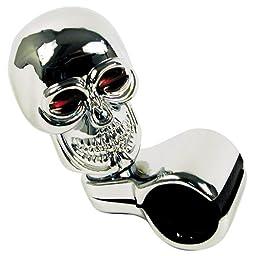 Custom Accessories 16261 Chrome Skull Style Steering Wheel Spinner