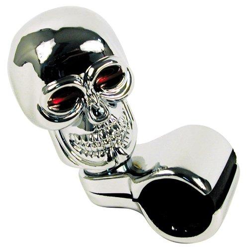 (Custom Accessories 16261 Chrome Skull Style Steering Wheel Spinner)