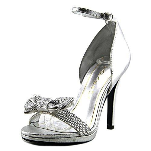 Caparros Womens Zolina Open Toe D-Orsay Pumps Silver gTFwxPA