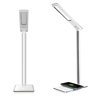 EyeCare LED Desk Lamp   IVSO Qi Wireless Desktop Charger With LED Lamp,5V/
