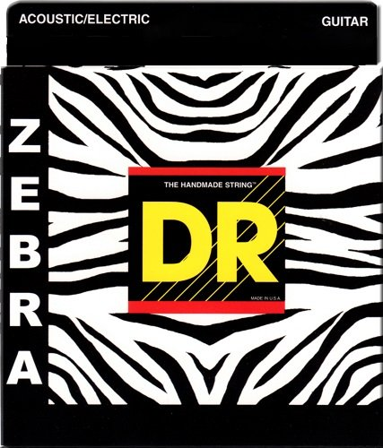 DR Strings Zebra Acoustic Electric Lite