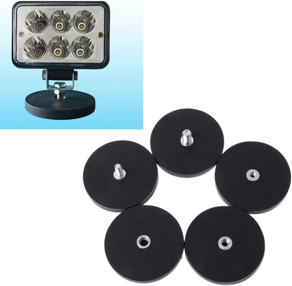 ruiruiNIE Support de Montage de Base magn/étique D66 pour la lumi/ère LED de Bateau de Bateaux et camions M8 Bolt