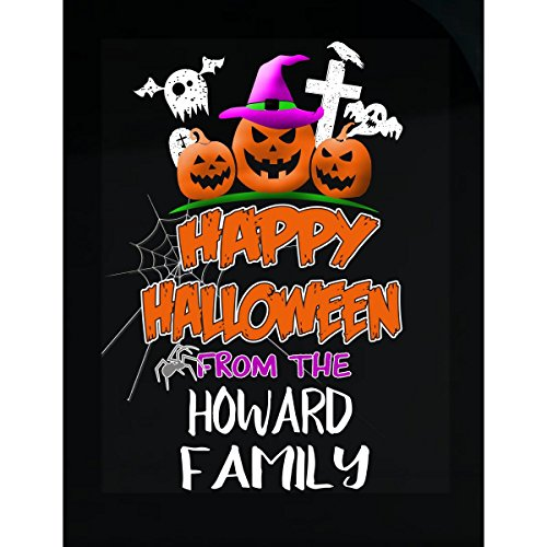 Prints Express Happy Halloween from Howard Family Trick Or Treating - Sticker -