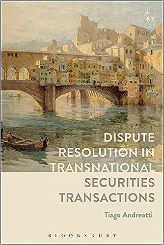 Dispute Resolution In Transnational Securities Transactions Epub Descargar