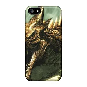 DateniasNecapeer Shockproof Scratcheproof Skyrim Dragon Hard Cases Covers For Iphone 5/5s