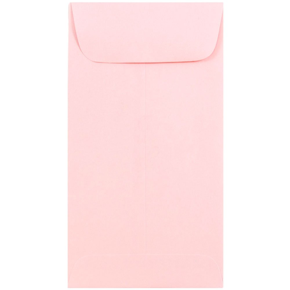 JAM Paper #7 Coin Envelope - 3.5 x 6.5 inches - Baby Pink - 1000/carton