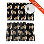 Gao808yuniqi Rough Collie Dog 3D Printed Tableware Mat,Placemats Set of 6,18 X 12,Snack Placemats,Beverage Placemats,Party Placemats for Dining Table,Kitchen Drink Placemat 7