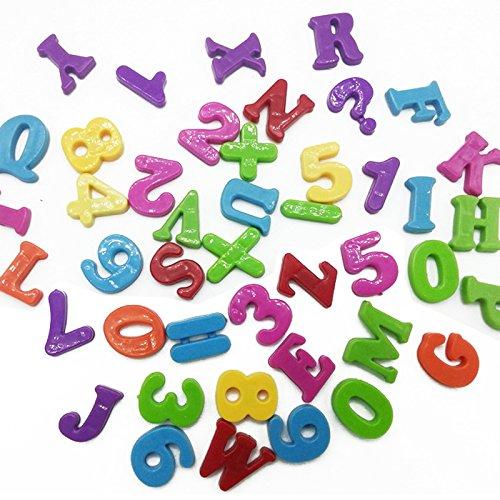 By channeltoys- 2pcs Set Magnet Éducatif Alphabet Chiffres & lettres magnétiques - Numéros & Lettres Aimantées Bébé Enfants Apprentissage Réfrigérateur Puzzles Jouets pour Enfants Jeu Cadeaux