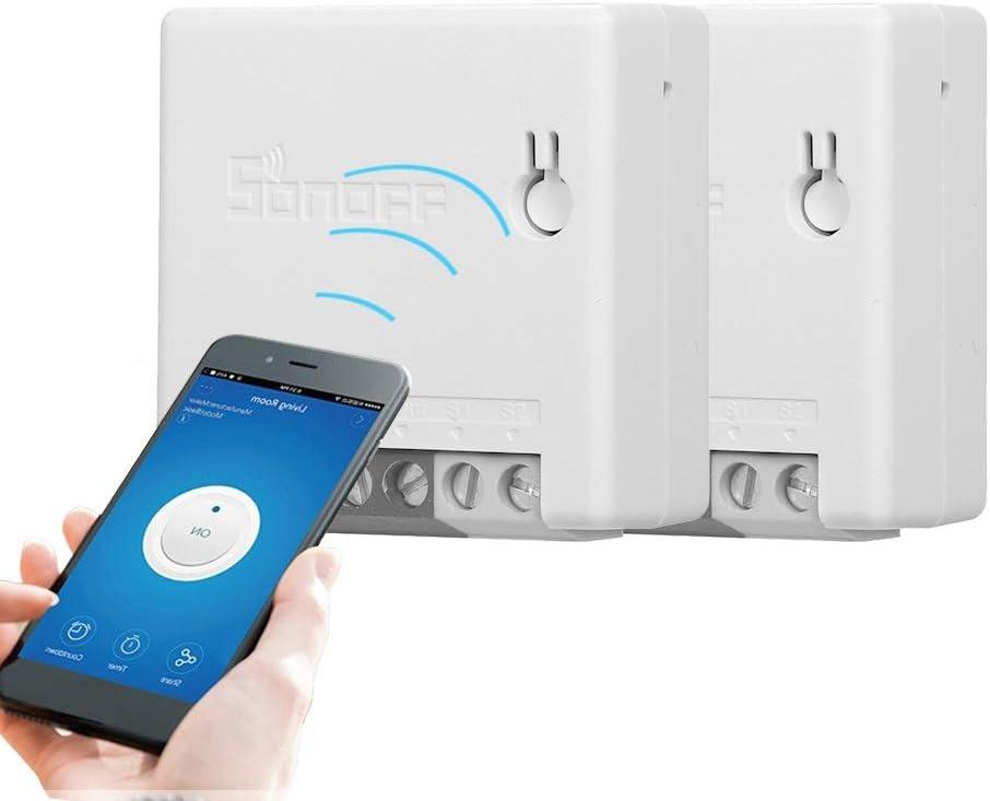 Control de Voz Compatible con  Alexa y para Google Home IFTTT Docooler eWeLink Mini Smart WiFi Socket Control Remoto de Enchufe Cualquier Lugar Funci/ón de temporizaci/ón