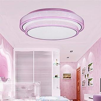 Lonfenner Deckenleuchte Drei Farbe Licht Schlafzimmer Runde Minimalist  Modern Home Master Schlafzimmer Lampen Und Laternen 41Cm