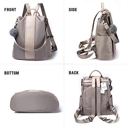 f341b77fdfa6 Women Backpack Purse Waterproof Nylon Anti-theft Rucksack Lightweight  School Shoulder Bag