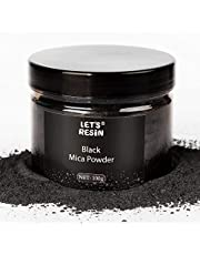 LET'S RESIN Black Mica Pigment Powder, 3.5 Ounces/ 100 Grams Black Mica Powder for Soap Making, Shimmer Resin Pigment Powder for Epoxy, Slime, Bath Bomb, DIY Crafting Projects