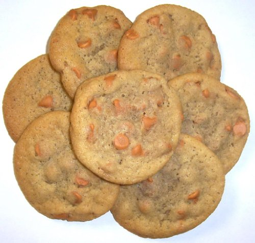 Scott's Cakes Butterscotch Chip Cookies in a 1 Pound Clear Cello Bag (Boxed Butter Cookies)