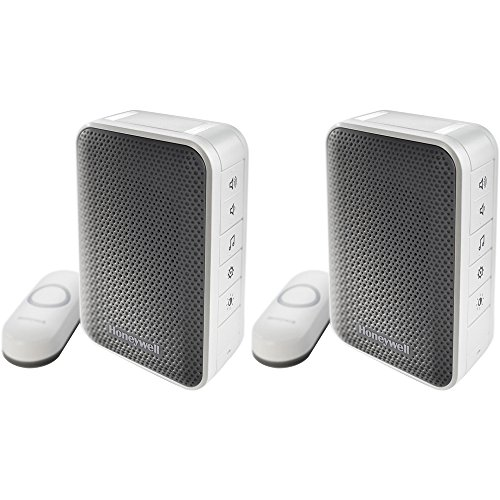 Honeywell Series 3 Portable Wireless Doorbell/Door Chime and Push Button 2 Pack (RDWL313A2000/E)