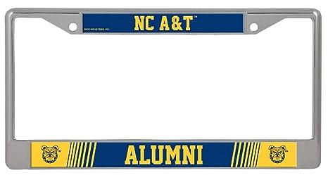 Rico North Carolina A/&T Alumni Metal License Plate Frame