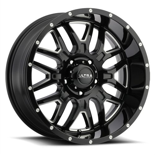 Ultra 203BM Hunter 17×9 6×135 +18mm Black/Milled Wheel Rim