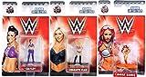 wwe coloring - WWE Women Mini Figures Metal Nanofigs Jada Ladies Wrestling Series Sasha Banks / Bayley & Charlotte Flair 3-Pack