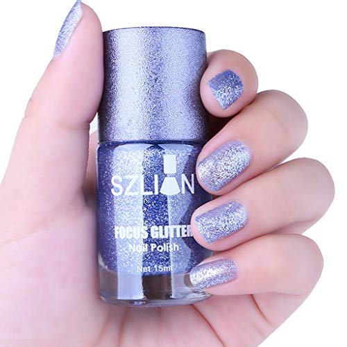 CCatyam Nail Polish, Art UV LED Gel, 15ml Mirror Sequin Glue Long Lasting Non-toxic Dry Liquid Metal Fashion