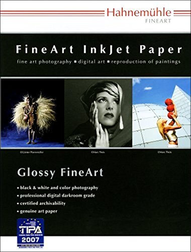Hahnemuhle Fine Art Baryta 325, Ultra Smooth High Gloss, Bright White Inkjet Paper, 325gsm, 13x19