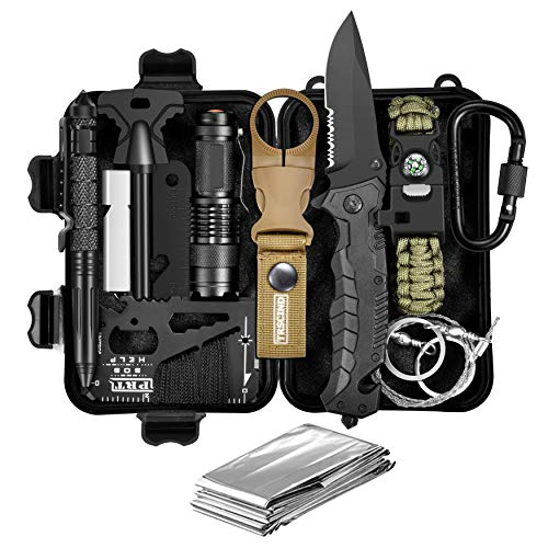Christmas Birthday Gift for Men Him Husband Dad Boyfriend Boys, Fun Gadget Mens Gifts Ideas, 11-in-1 Survival Gear Kits, EDC Emergency Tools and Everyday Carry Gear, Official Survival Kit (Christmas For Gift Ideas Him)