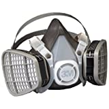 Best Construction Respirators - 3M Half Facepiece Disposable Respirator Assembly 5301/21577, Organic Review