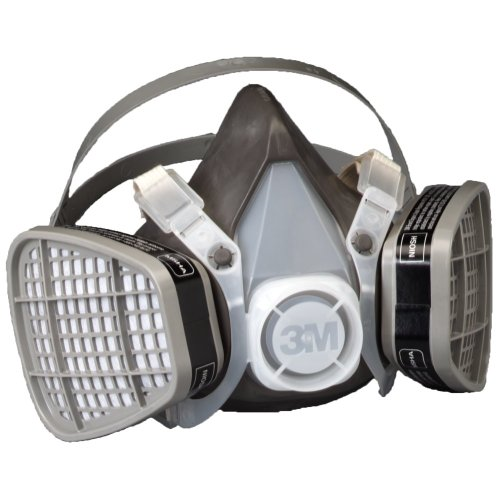 3M Half Facepiece Disposable Respirator Assembly 5301/21577, Organic Vapor Respiratory Protection, Large (Pack of 1)