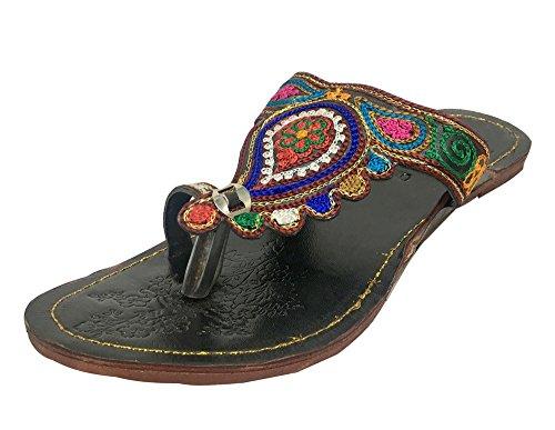Trinn N Style Kvinners Kolhapuri Slipon Jaipuri Sandaler Etniske Sko Khussa Sko Jutti