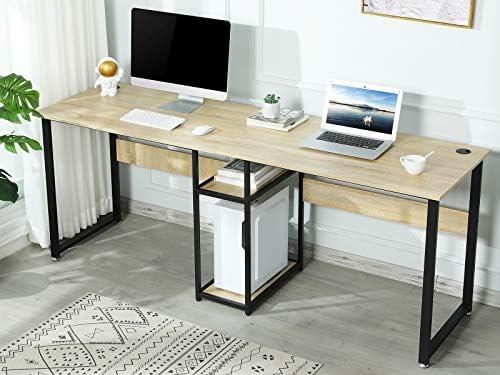Sedeta 78 inches Double Computer Desk - a good cheap modern office desk