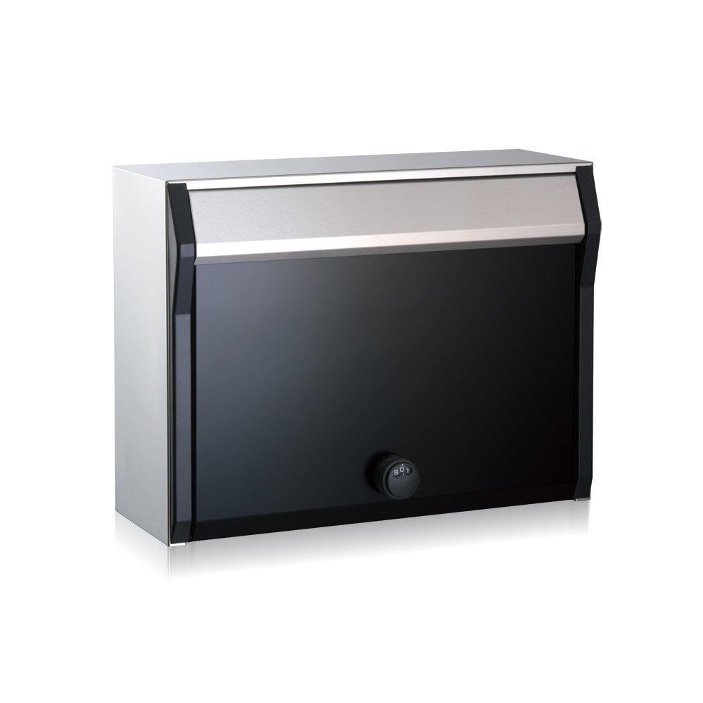 コーワソニア 郵便ポスト villetta ダイヤル錠 ブラック B00BN3H0CE 22588 ブラック ブラック