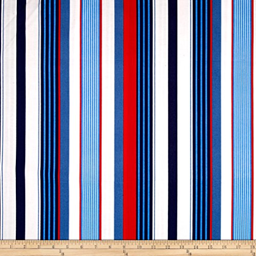 (Michael Miller Yacht Club Starboard Stripe Sailor Fabric by The Yard)