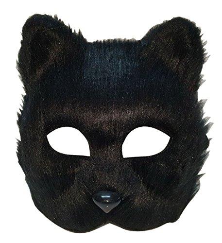 Masquerade animal half face mask (black)