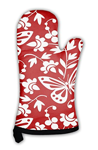 Gear New Oven Mitt, Butterflies and Flowers Wallpaper, GN819433 ()