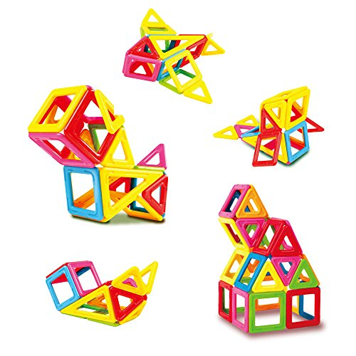 TTOOBBONG 32PCS Magnetic Building Blocks Set for Kids Colorful Magnetic Blocks for DIY Playing STEM Educational Magnet Tiles Toys ()