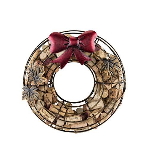 True 6338 Wine Cork Holder, Holiday Wreath