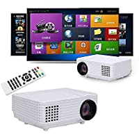 Portable Mini Video Projector 120 lumens Multimedia Projector 1080p Full HD Support HDMI VGA USB AV Audio for Home Theater Cinema