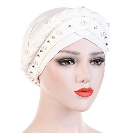 WoCoo Muslim Hat India Scarf Ruffle Chemo Beanie Elastic Turban