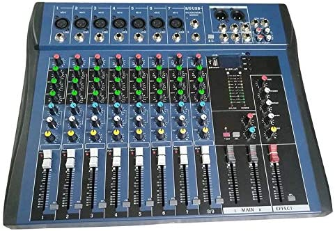 CT8 Mezclador estéreo profesional de 8 canales Live USB Studio ...