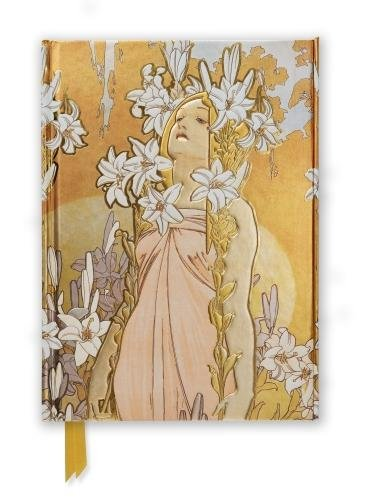 Mucha: The Flowers, Lily (Foiled Journal) (Flame Tree Notebooks)